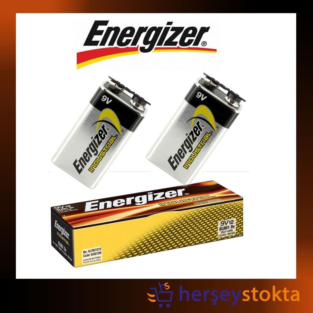 88245943 - Energizer Industrial 9 Volt Pil 12 Adet - n11pro.com