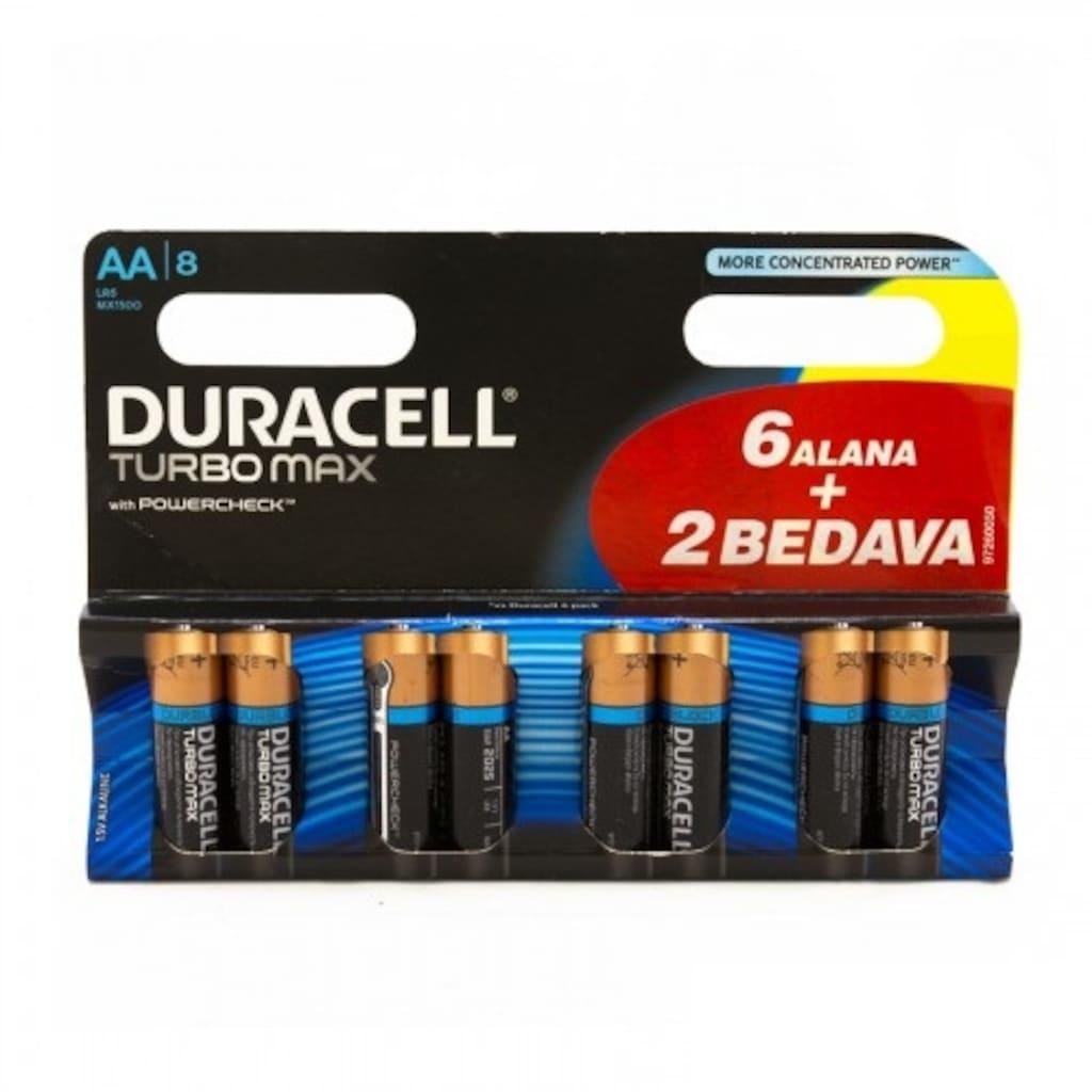 26679872 - Duracell Turbomax 8 Adet AA Pil - n11pro.com