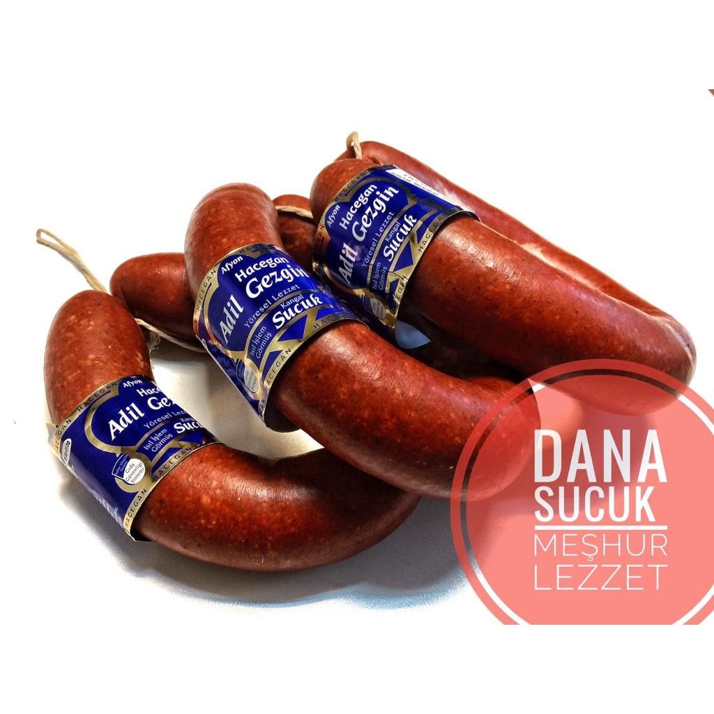 01781830 - Afyon Hacegan Sucukları - Dana Sucuk 1 KG - n11pro.com