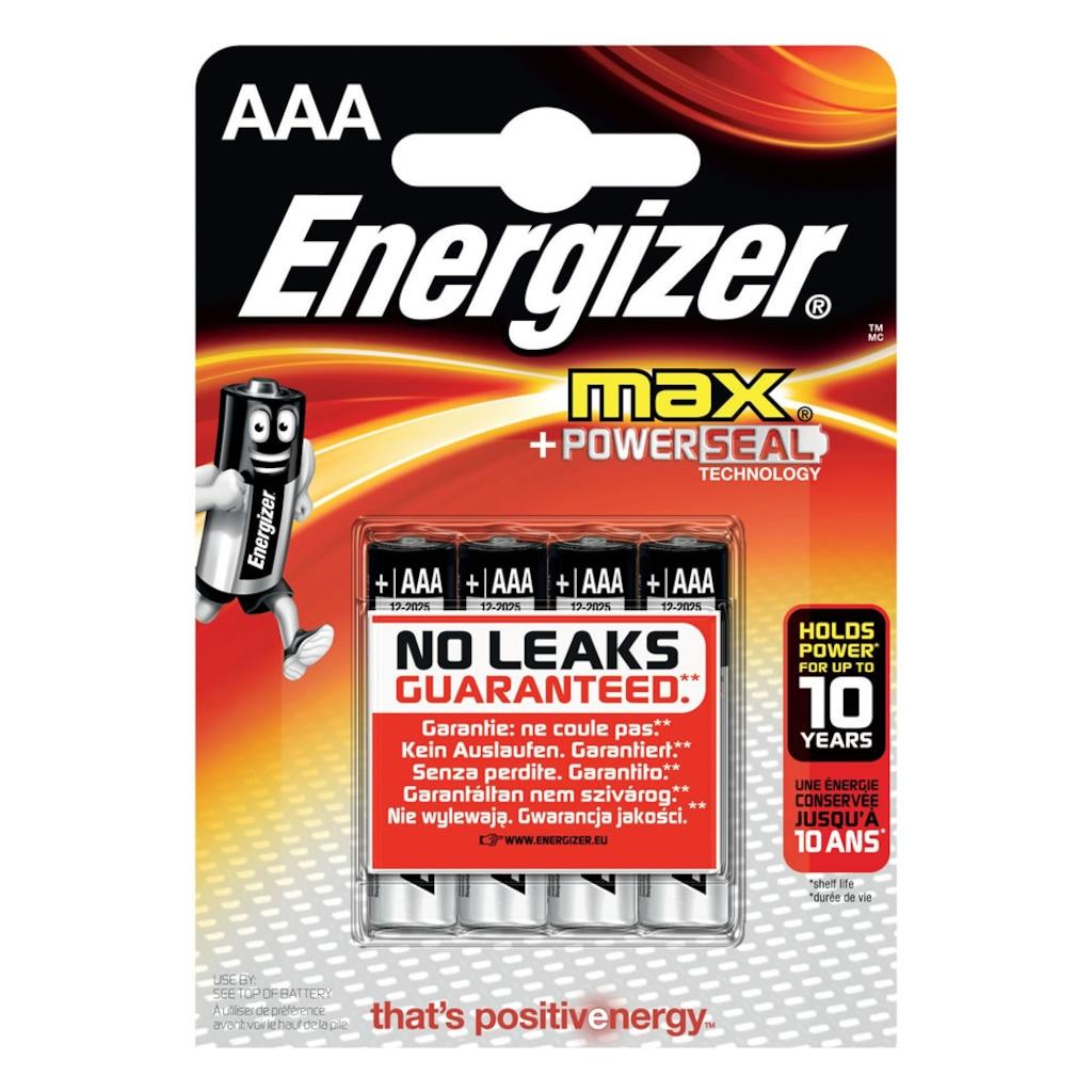 02824829 - Energizer Max LR03 Alkaline AAA İnce Kalem Pil 4'lü - n11pro.com