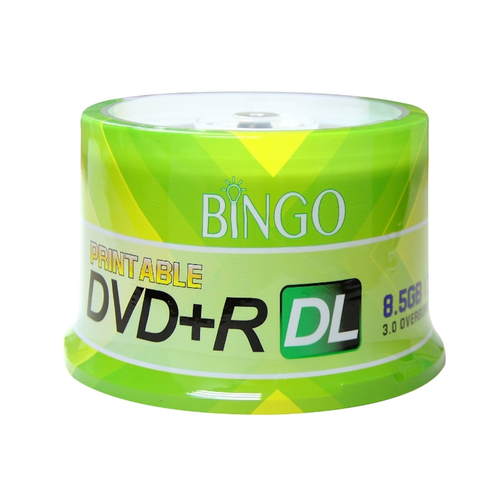 87387397 - Bingo DVD+R 8.5 GB DL 240 Min 8x 50'li Cake Printable - n11pro.com