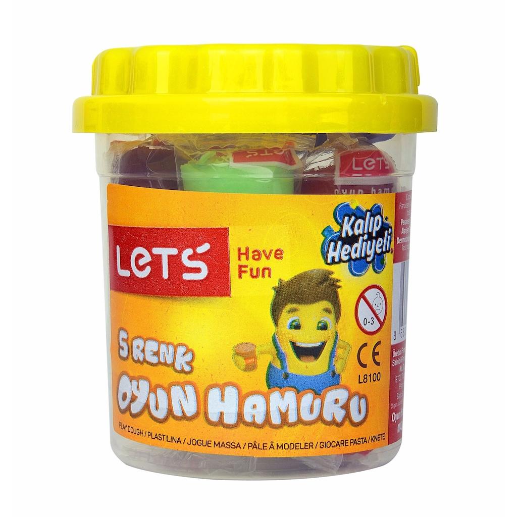 46968127 - Lets L8100 5 Renk Oyun Hamuru 100 GR - n11pro.com