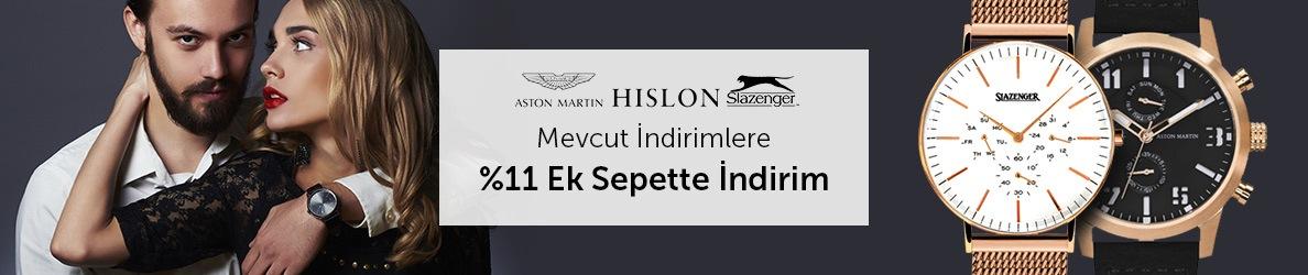 Slazenger Hizlon ve Aston Martin Marka Saatlerde Mevcut İndirimlere Ek Sepette %11 İndirim