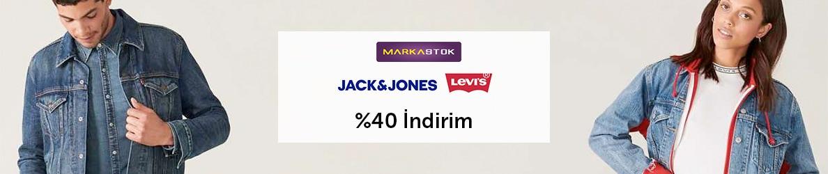 Markastok'da LEVIS, JACKJONES Ürünlerinde %40 İndirim