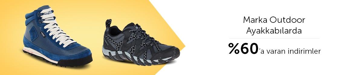 Outdoor Ayakkabılarda ve Botlarda %60'a Varan İndirimler