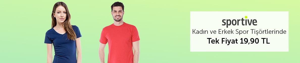 Spor Tişörtler Tek Fiyat 19,90 TL!