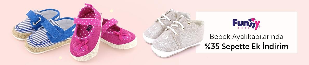 FunnyBaby Bebek Ayakkabılarında Sepette %35 İndirim