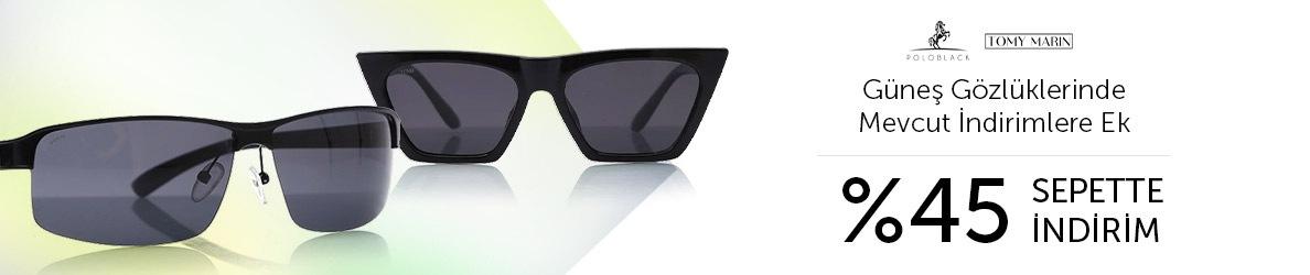 Polo Black ve Tommy Marin Güneş Gözlüklerinde Mevcut İndirimlere Ek Sepette %45 İndirim