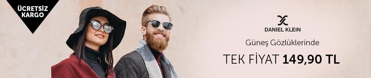 Daniel Klein Güneş Gözlüklerinde Tek Fiyat 149,90 TL Fırsatı!
