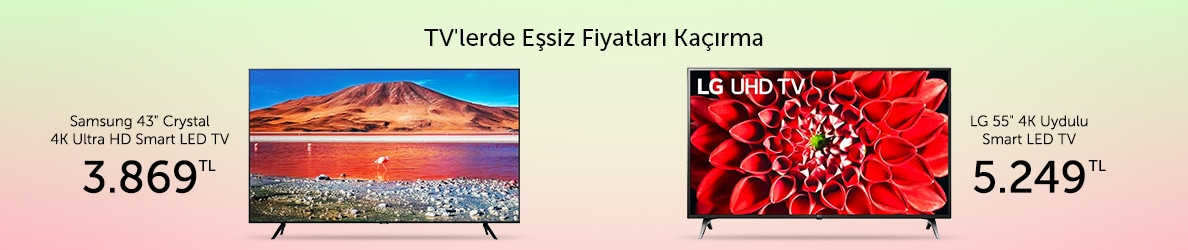 Seçili TV'lerde Eşsiz Fiyatlar