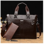Men's Genuine Leather Handbag Briefcase