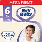 Evy Baby Bebek Bezi 6 Beden Ekstra Large Mega Fırsat Paketi 204
