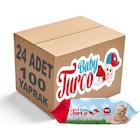 Baby Turco Islak Havlu Mendil Klasik 100 Yaprak 24 Paket Plastik