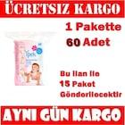 İpek Maxi Bebek Temizleme Pamuğu 60'lı / 15 Paket SKT:2023