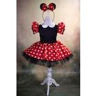 Minnie Mouse Kız Çocuk Kostümü Kırmızı