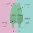 Woolnat Terletmeyen Merino Yün Kolsuz Tek Katlı Uyku Tulumu