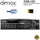 Denox DXB-120 120W 100V/4ohm 5 Bölgeli Mikser Anfi - Mixer Amfi