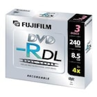 BOŞ DVD FUJİFİLM DVD-R DL 240 MIN 8.5 GB 3 ADET