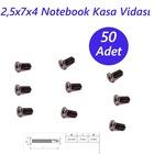 2,5x7x4 Notebook Kasa Vidası Siyah 50ADET
