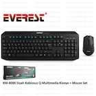 Everest KM-8000 Siyah Kablosuz Q Multimedia Klavye + Mouse Set