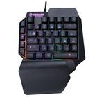 Tek El RGB Işıklı Bilek Destekli Mini Gaming Oyuncu Klavyesi