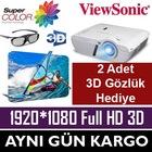 ViewSonic PJD7828HDL 3200 A FullHD 3D Projeksiyon-2*GÖZLÜK HEDİYE