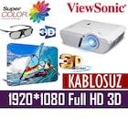 ViewSonic PJD7828HDL 3200 A.L.  FullHD 3D Projeksiyon-KABLOSUZ
