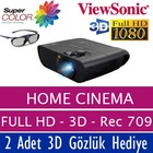 ViewSonic PRO7827HD Full HD 3D Ev Sineması - 2 GÖZLÜK HEDİYE