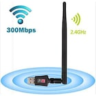 Wireless Usb Adaptör -Kablosuz Antenli Usb Wifi Alıcı 300 Mbps