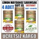 4 Kutu Limon Maydanoz Sarımsak Kürü - 240 Soft Jel Kapsül - NURS