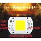 50W PROJEKTÖR SMD POWER LED ÇİP BEYAZ 110V 220V