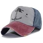 Çapalı Eskitme Balıkçı Denizci Şapka - 2020 Modası - Kırmızı