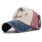 Çapalı Eskitme Balıkçı Denizci Şapka - Son Trend - Lacivert