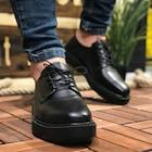 Chekich Siyah Erkek Klasik Ayakkabı-Deri Günlük Yüksek Taban 001