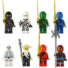 Lego Uyumlu Ninjago 8 li Mini Figür Set Skyblue Süper