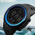 Sağlam Su Geçirmez Sporcu Erkek Kol Saati Dijital Işıklı Saat