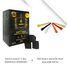 Kefo Gold 1Kg Hindistan Cevizi Nargile Kömürü-50 Adet Uzun Sipsi
