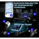 Super Pro Bluetooth Araç Kiti + Aux Araç Kiti Fm Transmitter 2in1