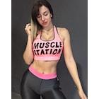 Musclestation Sport Bra Toughgirl Pinkdream Kalın Askı