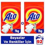 Alo Toz Çamaşır Deterjanı Beyazlar ve Renkliler İçin 7 kg 2'li
