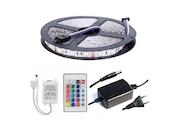 ŞERİT LED RGB 5050 SMD DOUBLE 3 ÇİP 5METRE+300 LED FULL TAKIM