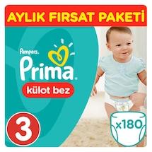 Prima Pants Külot Bebek Bezi 3 Beden Midi 180 Adet 3'lü Paket