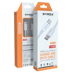 Syrox C94 3A Type-C to Type-C Hızlı Veri ve Şarj Kablosu