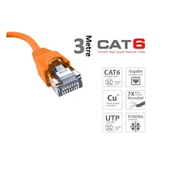 Meshwork Cat6 4x2x23Awg 3mt