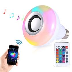 Uzaktan Kumandalı Bluetooth Hoparlör RGB LED Ampul Speaker
