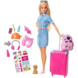 Barbie Seyahatte Bebeği Oyuncak Model Bebek ve Aksesuarları FWV25