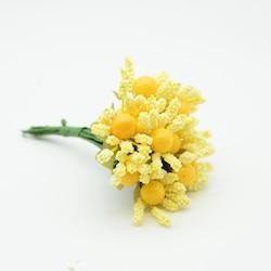 Tomurcuk çiçek Cipso 1 demet-12 adet SARI