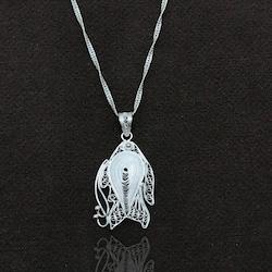Balık Model Elişçiliği Telkari Gümüş Bayan Kolye