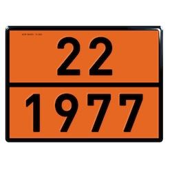 ADR 22/1977 Likit Azot Uyarı Levhası Alüminyum 40x30 cm