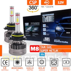 Carmaniaks M8 Full Power CSP 360° Led Xenon 12500LM H1